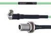 Temperature Conditioned Low Loss RA SMA Male to N Female Bulkhead Cable LL160 Coax in 30 Inch -- FMHR0202-30 -Image
