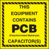 This Equipment Contains PCB Capacitor(s) Label -- SGN679