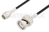 SMA Male to BNC Male Cable 36 Inch Length Using RG174 Coax, LF Solder, RoHS -- PE3C3328LF-36 -Image