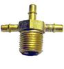 Brass Single Barbs Male Adapter Tee -- MAT-2M1B