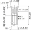 Louver Type Socket Pins, Acceptable plug: Dia.3.60mm/0.142