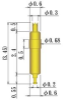 Single Ended Probe Pin -- 8YF068L345-DIR - Image