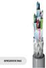 RS232/422 Low Cap, #24-4pr, FPO, Indiv.& O/A Foils+Braid, PVC Jkt, CM, 100Ω -- 8164 -- View Larger Image