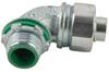 "Liqua-Seal Connector, 90 deg, 1/2"" NPT, zinc plated iron -- LML-11"