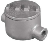 Conduit Outlet Box,HazLoc,C ,2 Hub,Al -- 6RUV9
