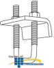 Erico Beam Clamps for Strut with Plate (Pkg of 25) -- BC17A000EG -- View Larger Image