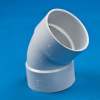 White PVC 1/8 Bend Ell -- 31075
