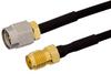 SMA Male to SMA Female Semi-Flexible Precision Cable 18 Inch Length Using PE-SR405FLJ Coax, LF Solder, RoHS -- PE39432-18 -Image