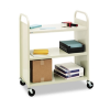 Steel Flat Shelf Cart/Stand, 3-Shelf, 36 x 18 x 43, Putty -- F336
