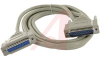 Cable, D-Sub; 10 ft.; 28 AWG; RS232 (DB25); Non Booted; UL Listed -- 70159858 - Image
