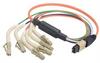MPO Male to 6x Flex LC Fan-out, 6 Fiber Ribbon, OM1 62.5/125 Multimode, OFNR Jacket, Orange, 10.0m -- MPM6OM1-FLC-10 - Image