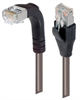 Category 5E Shielded LSZH Right Angle Patch Cable, Straight/Right Angle Down, Gray, 30.0 ft -- TRD815SZRA1GRY-7 -Image