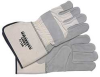 Leather Palm Gloves,Cowhide,Gray,L,PR -- 9K727