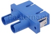 ST To SC Snap in Duplex Single Mode Fiber Optic Adapter With Zirconia Sleeves and Blue Body -- PE900034