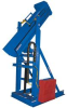 Drum Dumper - Hydraulic Lift and Dump: Portable Lift and Dump Drum Dumper (40 Degree Dump Angle) -- HLD-94-10-P