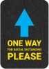 PIG One-Way Directional Arrow Floor Sign & Marker - Box of 4 -- GMM21009 -Image