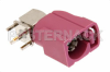 FAKRA Jack Right Angle Connector Solder Attachment Thru Hole PCB, Violet Color -- PE44650H -Image