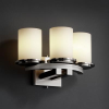 FSN-8776-10-OPAL-NCKL Sconces-Triple Glass -- 671813