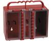 Brady Red Plastic Combined Lock Storage & Group Lock Box 50937 - 8.5 in Width - 7.5 in Height - 12 Padlock Capacity - 754476-50937 -- 754476-50937