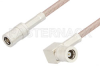 SMB Plug to SMB Plug Right Angle Cable 48 Inch Length Using RG316 Coax -- PE33672-48 -Image