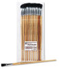Handle Easel Brush, Size 12, Natural Bristle, Flat, 12/Pack -- LEO73550