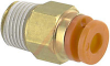 Fitting, Pneumatics; straight male; metal body; 1/8NPT port; 5/32 tube OD -- 70070329