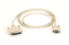 6ft. RS232 Serial AT Modem Cable Shielded CM DB9 F/DB25 M -- BC03000-0006-MF