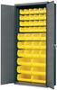 Cabinet, Flush Door Bin Cabinet, w/42 AkroBins -- AC3618Y - Image