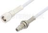 SMC Plug to SMC Jack Bulkhead Cable 72 Inch Length Using RG188 Coax -- PE33686-72 -Image