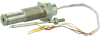 Honeywell Aerospace Linear Variable Displacement Transformer (LVDT), single channel, 8,89 mm [0.35 in] stroke range, threaded mounting, pigtail (flying leads) termination, 0.164-32 threaded probe fitt