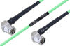 Temperature Conditioned TNC Male Right Angle to TNC Male Right Angle Low Loss Cable 8 Inch Length Using PE-P160LL Coax -- PE3M0215-8 -Image