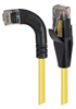Category 5E Right Angle Patch Cable, Straight/ Right Angle Left Exit, Yellow, 5.0 ft -- TRD815RA6Y-5 -Image