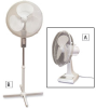 TPI Oscillating Office Fans -- 2827900