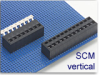 Wire-to-Board Fixed Terminal Block -- SCM Vertical Series -- View Larger Image