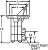 3-WAY VALVES, IN LINE MOUNTED -- 3-Way Valve 944900 - Image