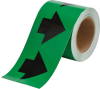 Brady B-946 Black on Green Directional Flow Arrow Tape - 4 in Width - 30 yd Length - 91408 -- 754476-91408 - Image