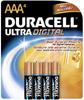 Battery; Alkaline; Ultra Digital; Size AAA; 4 Per Pack -- 70149251