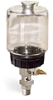 """(Formerly B1682-2), Single Feed Manual Lubricator, 1 pt Polycarbonate Reservoir, 3/8"""" Male NPT -- B1681-0163B11W -- View Larger Image"""