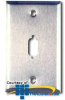 Allen Tel Stainless Steel DB Connector Faceplate -- ATBK - Image