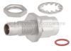 Bulkhead Slide-On BMA Plug to SMA Male (Plug) Adapter, Passivated Stainless Steel Body, 1.15 VSWR -- FMAD1111 - Image