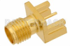 SMA Female Connector Solder Attachment .031 inch End Launch PCB -- PE44206 -- View Larger Image