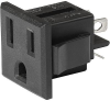 NEMA line Outlet 5-15R, Snap-in Mounting, Front Side, Solder Terminal -- NR020 -Image