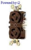 Duplex Locking Receptacle Brown 15A 125V 2P -- 78358500230-1 - Image