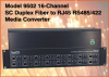 16-Channel SC Duplex Multimode Fiber to RJ45 RS485/422 Media Converter -- Model 9502