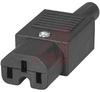 Plug Assembly, Power; 10 A; 250 VAC; 10000 Megohms (Min.); Nylon; 18 AWG -- 70133309 - Image