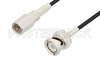 FME Plug to BNC Male Cable 12 Inch Length Using RG174 Coax -- PE3C3420-12 -Image