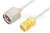 SMA Male to SMA Female Cable 12 Inch Length Using PE-SR047FL Coax, RoHS -- PE34228LF-12 -Image