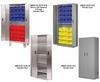 Heavy Duty Bi-Fold Door Cabinets -- HBDSC-SS-6LEGS - Image