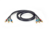 Component Video Cable (3) RCA on Each End, 6ft. -- VCB-3RCA-0006 -- View Larger Image