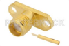 SMA Female Connector Solder Attachment 2 Hole Flange Mount Tab Terminal, .481 inch Hole Spacing -- PE4370 -Image